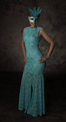 Photograph - Lady In Blue by Gregory Daley  MPSA