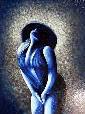 Painting - Lady In Blue by Monty Perales