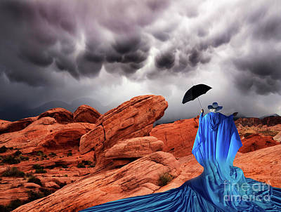 Photograph - Lady In Blue Nevada by Bob Christopher