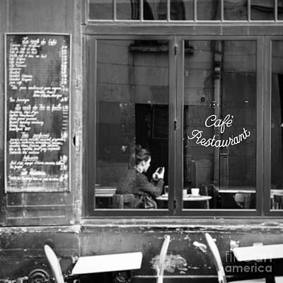 Parisian Chic Photograph - Lady In Cafe, Paris by Ivy Ho