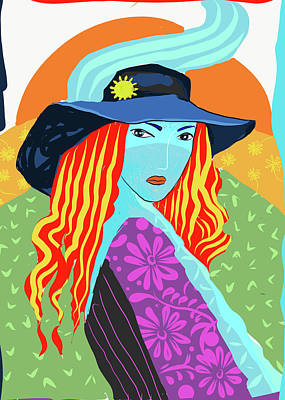 Digital Art - Lady In Charge by Judith Barath