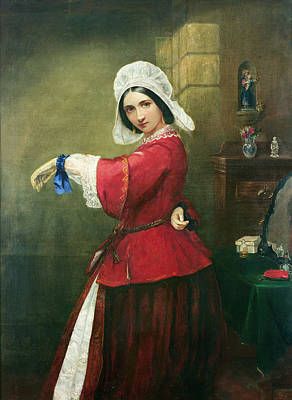 Breton Painting - Lady In French Costume by Edmund Harris Harden
