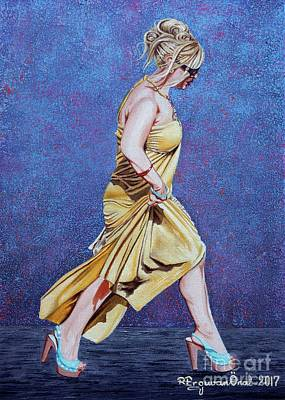 Painting - Lady In Hurry by Rezzan Erguvan-Onal