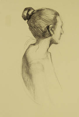 Lady In Profile Art Print by Susan Fowler