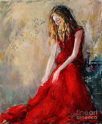 Painting - Lady In Red 2 by Jennifer Beaudet