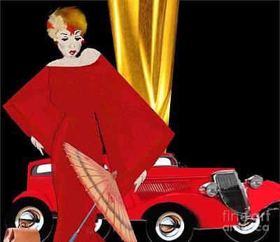 Painting - Lady In Red by Belinda Threeths