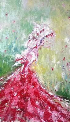 Lady In Red Original by Catherine King