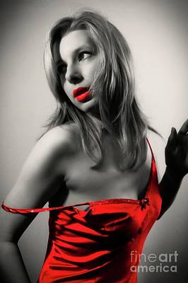 Fetish Photograph - Lady In Red by Frank Falcon