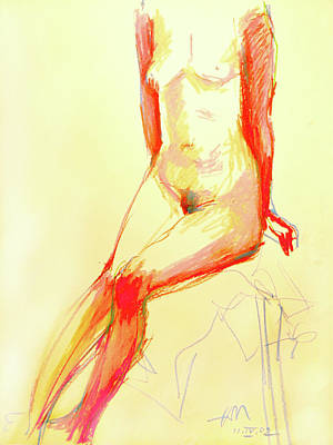 Painting - Lady In Red by Johannes Margreiter