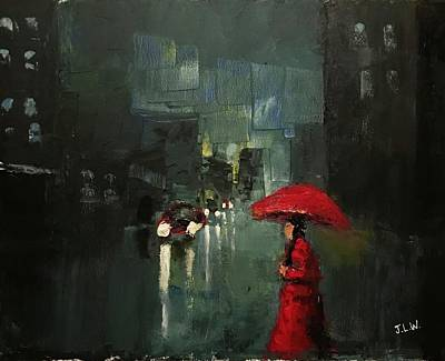 Painting - Lady In Red by Justin Lee Williams