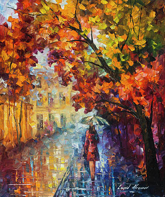 Painting - Lady In Red by Leonid Afremov