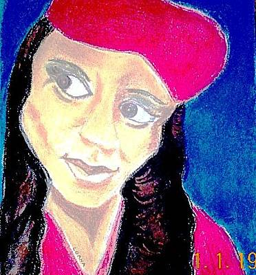 Mixed Media - Lady In Red by Lorna Lorraine
