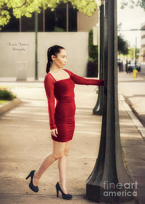 Photograph - Lady In Red by Mechala Matthews