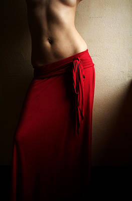 Photograph - Lady In Red by Michael McGowan