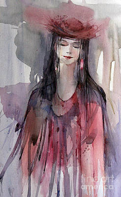 Painting - Lady In Red by Natalia Eremeyeva Duarte
