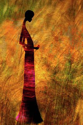 Digital Art - Lady In Red by Paul St George