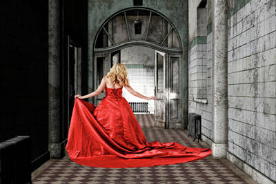 Fantasy Art Mixed Media - Lady In Red by Smart Aviation