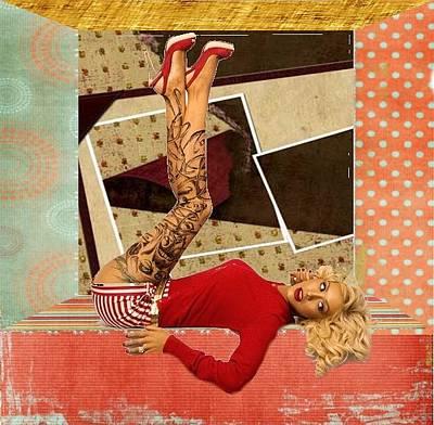 Digital Art - Lady In Red by Gyorgy Szilagyi