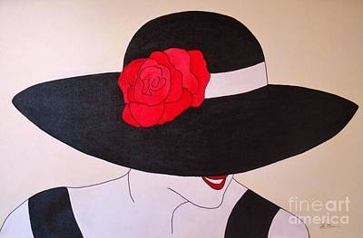 Lady Diana Painting - Lady In The Black Hat by Sue La Marr  Kramer