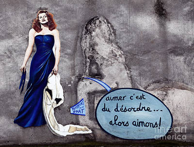 Paris In Blue Fine Art Photograph - Lady In The Blue Dress by John Rizzuto