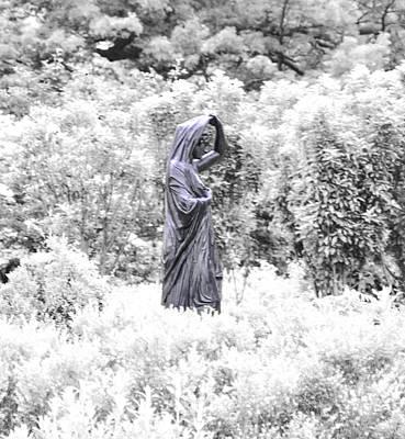 Phillies Digital Art - Lady In The Garden In Infrared by Bill Cannon