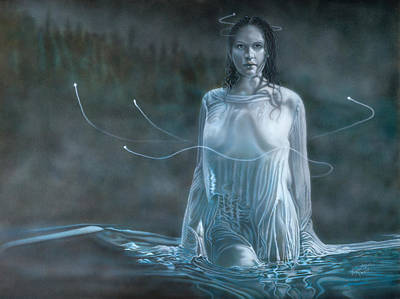 Painting - Lady In The Lake by Wayne Pruse