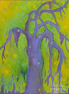 Art Print featuring the painting Lady In The Tree by Alison Caltrider