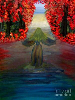 Woman Painting - Lady In The Water by Stephanie Zelaya