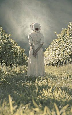 Lady In Vineyard Art Print by Joana Kruse