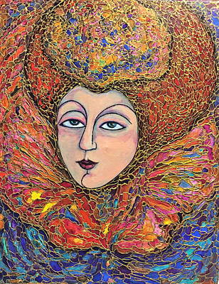 Painting - Lady-in-waiting by Rae Chichilnitsky