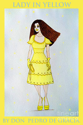 Lady In Yellow Art Print by Don Pedro De Gracia