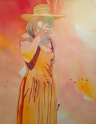 Painting - Lady In Yellow by Terry Holliday