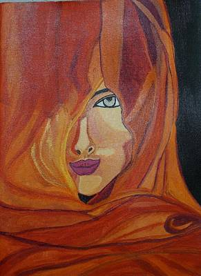 Shweta Singh Painting - Lady Inveil by Shweta Singh