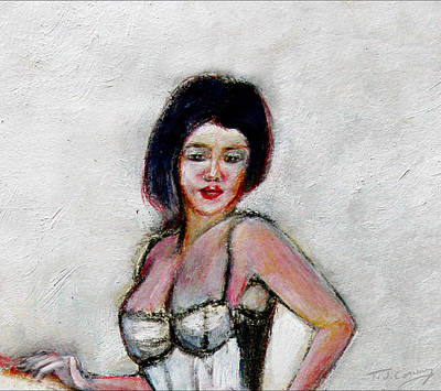 Painting - Lady Jane With Red Lipstick by Tom Conway