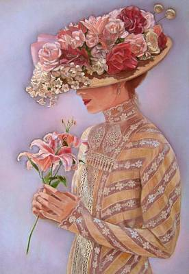 Lilies Painting - Lady Jessica by Sue Halstenberg