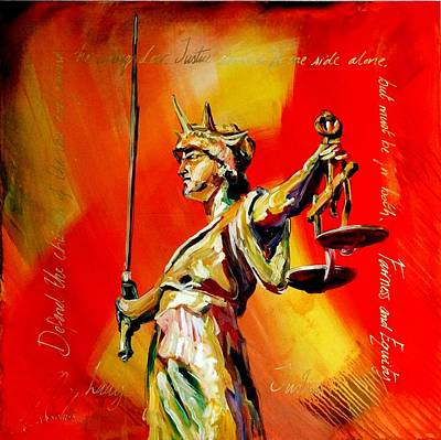 Lady Justice 0120 Art Print by Eraclis Aristidou