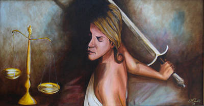 Lady Justice Painting - Lady Justice by William Gambill