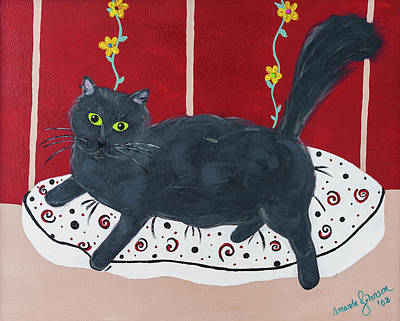 Painting - Lady Kitty by Amanda Johnson