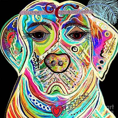 Pups Painting - Lady Lab by Eloise Schneider