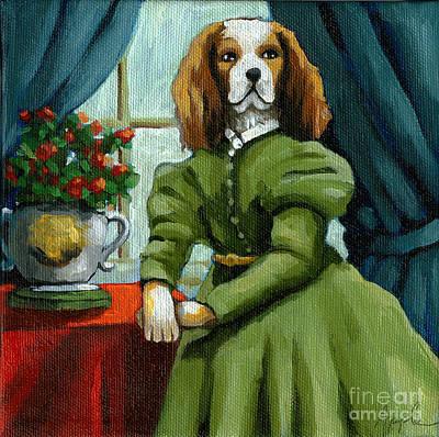 Lady Lenore - The Scandal - Dog Portrait Original by Linda Apple