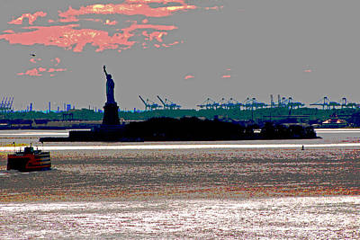 Photograph - Lady Liberty 18 - Digital Painting by Allen Beatty