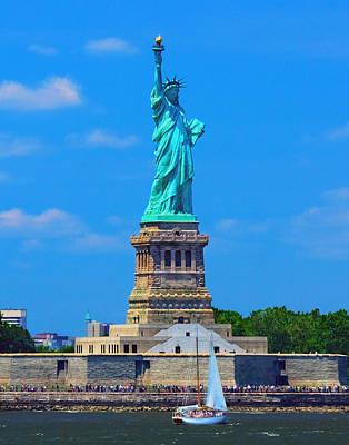 Photograph - Lady Liberty 376 by Jeff Stallard