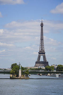 Photograph - Lady Liberty And Eiffel Tower by Allen Sheffield