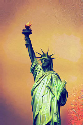 Painting - Lady Liberty by Andre Faubert