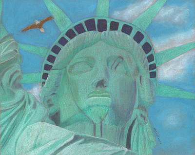 Painting - Lady Liberty by Arlene Crafton