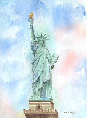 Lady Liberty Art Print by Arline Wagner