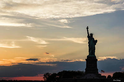 Photograph - Lady Liberty At Sunset by Fran Gallogly