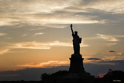 Photograph - Lady Liberty At Twilight by Fran Gallogly