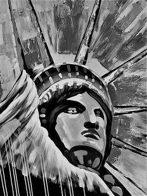 Photograph - Lady Liberty B W by Rob Hans