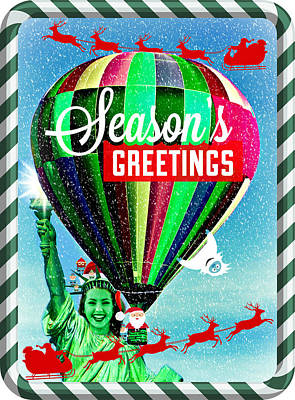 Photograph - Lady Liberty Bids You Season's Greetings II by Aurelio Zucco